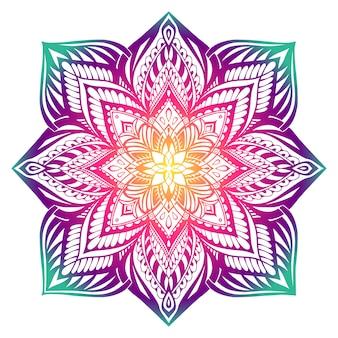 Mandala elementos decorativos redondos vintage. dibujado a mano