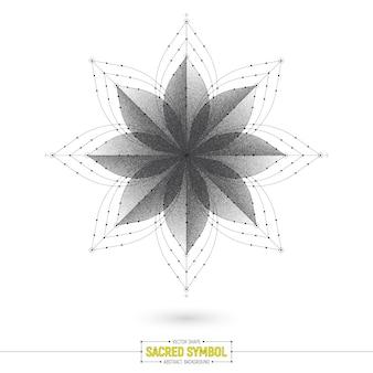 Mandala esotérica símbolo sagrado vector de fondo