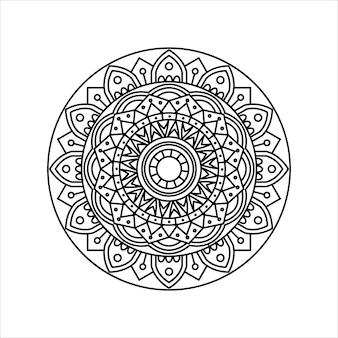 Mandala de esquema creativo