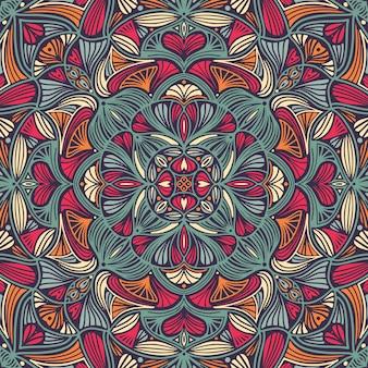 Mandala étnico floral ornamental colorido