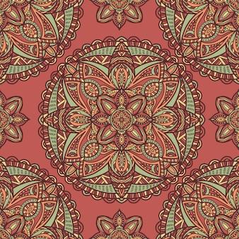 Mandala sin fisuras de fondo. adorno tribal
