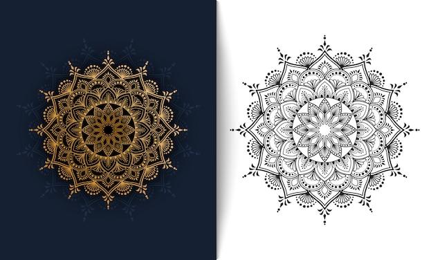 Mandala floral, adorno de lujo ilustración vectorial