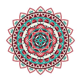 Mandala floral de color, ilustración vectorial