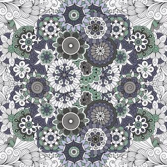 Mandala floral como patrón