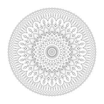 Mandala floral, ilustración vectorial