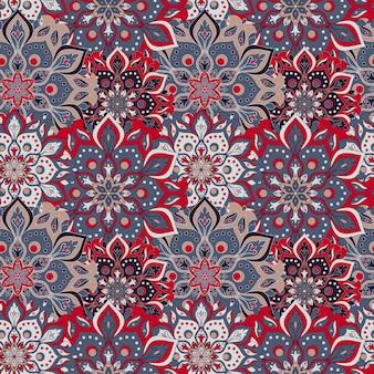 Mandala floral de patrones sin fisuras