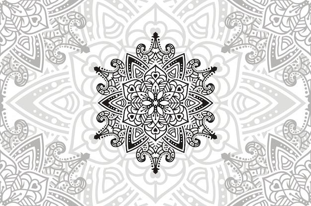 Mandala de flores. elementos decorativos vintage. ilustración de patrón oriental