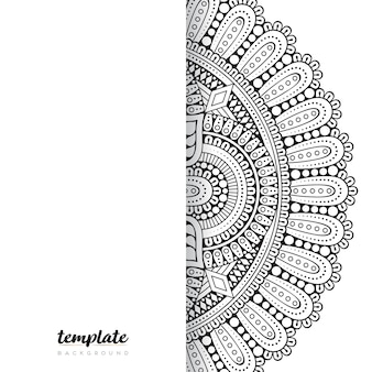 Mandala fondo blanco. ornamento floral redondo