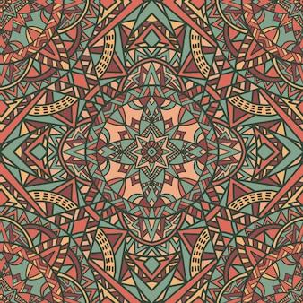 Mandala de fondo sin fisuras patrón ornamento tribal.