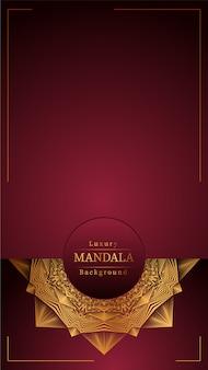 Mandala con fondo rojo