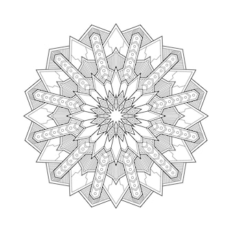 Mandala geométrica abstracta arabesque para colorear ilustración del libro de la página. camiseta . fondo de papel tapiz floral