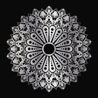 Mandala geométrica islámica de lujo en color dorado