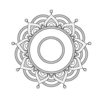 Mandala indio - patrón marroquí redondo estilo flor