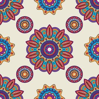 Mandala indio redondo vector patrón