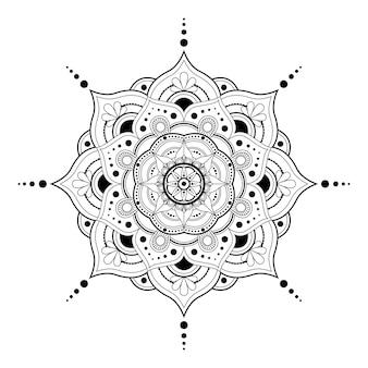 Mandala para libro de colorear antiestrés étnico decorativo ornamento redondo patrón de contorno oriental