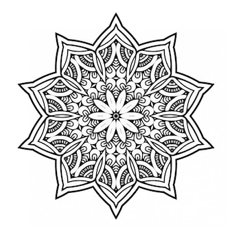 Mandala de lujo en blanco y negro