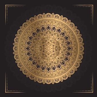 Mandala de lujo en color dorado