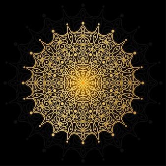 Mandala de lujo decoración de flores mehndi en estilo étnico oriental e indio. ornamento del doodle esquema dibujar a mano ilustración.
