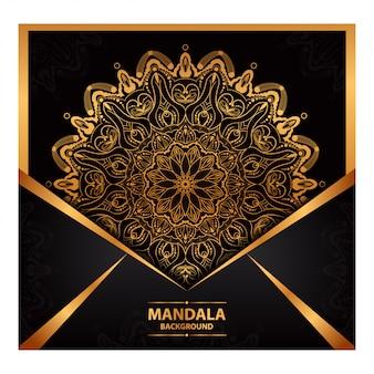 Mandala de lujo para invitación de boda