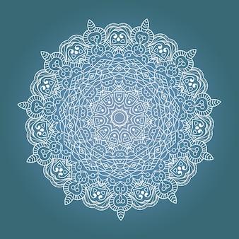 Mandala de meditación fractal étnica