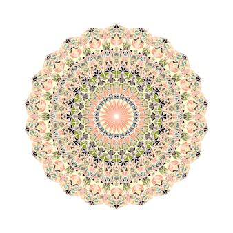 Mandala de mosaico triángulo redondo geométrico adornado abstracto