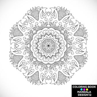 Mandala negro para colorear