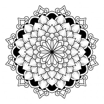 Mandala oriental dibujado a mano