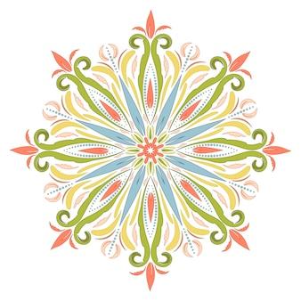 Mandala oriental en estilo boho