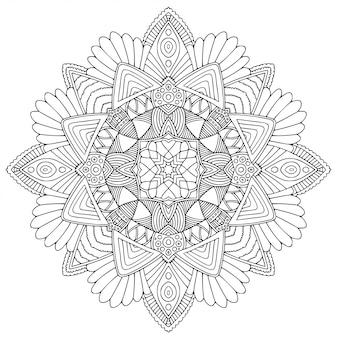 Mandala ornamental blanco y negro