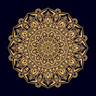 Mandala ornamental de color dorado