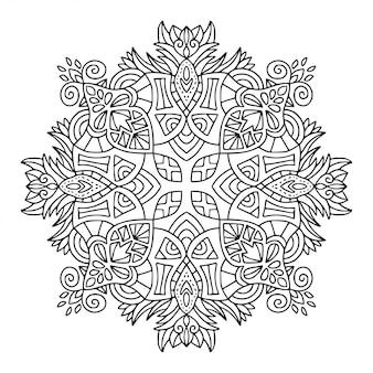 Mandala ornamental. patrón de adorno lineal. página de libro para colorear.