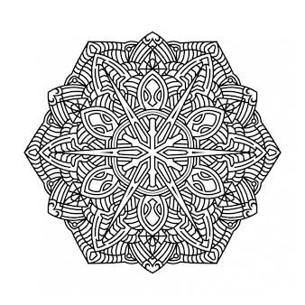Mandala ornamental sobre fondo blanco.