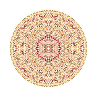 Mandala de ornamento de grava circular colorido abstracto redondo