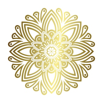Mandala de oro de corte láser