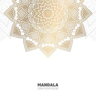 Mandala de oro y fondo blanco