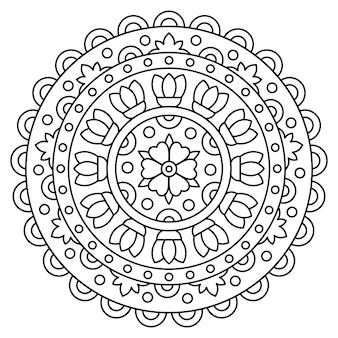 Mandala página para colorear. ilustracion vectorial