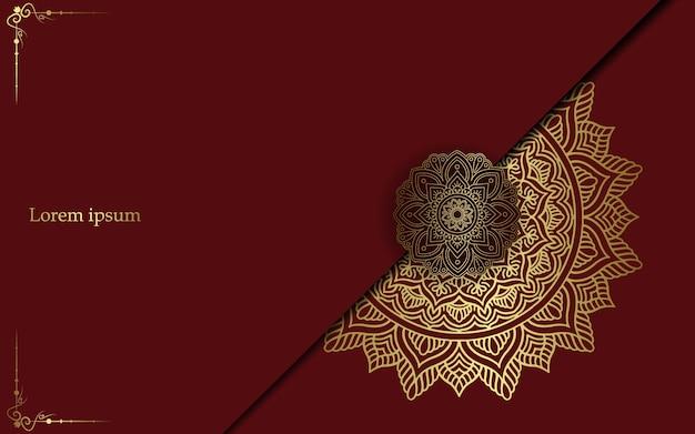 Mandala con patrón de adorno floral