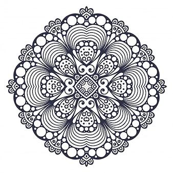 Mandala patrón de adorno redondo. elementos decorativos vintage