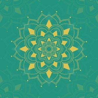 Mandala de patrón de fondo en verde