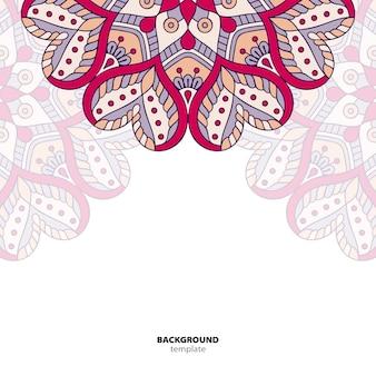 Mandala. patrón de ornamento redondo. origen oriental étnico