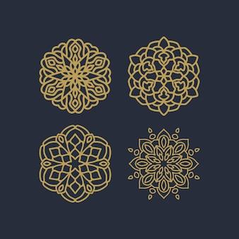 Mandala patrón vector pack