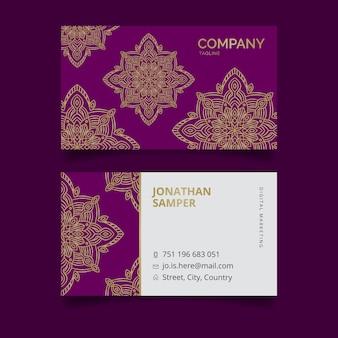 Mandala de plantilla de tarjeta de visita