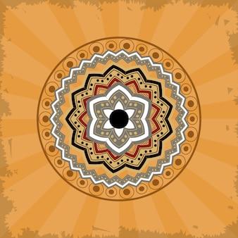 Mandala sobre fondo vintage