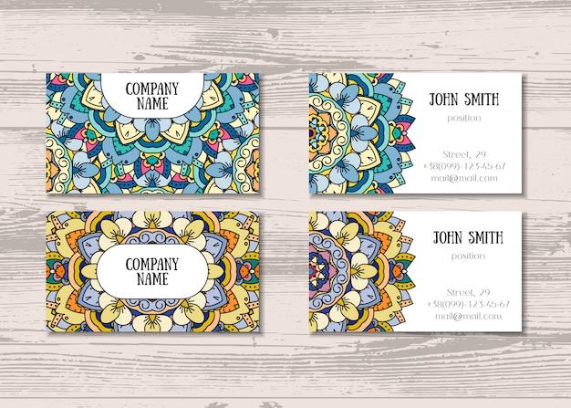 Mandala tarjetas de negocio