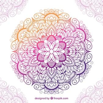Mandala tradicional con estilo colorido