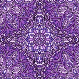 Mandala vector sin fisuras de fondo
