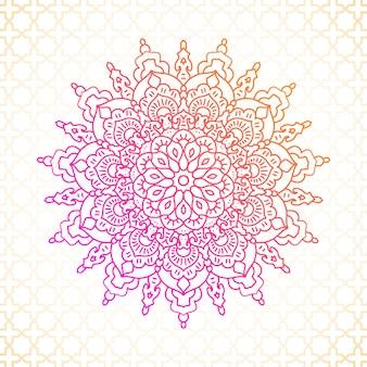 Mandala vector gráfico islámico ornamental