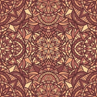 Mandala vector de patrones sin fisuras adorno tribal