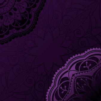 Mandala violeta de diseño