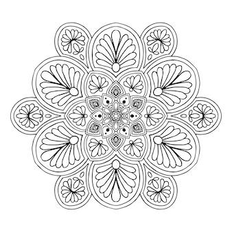 Mandalas para colorear libro. vector oriental, patrones de terapia antiestrés. logotipos de yoga vec